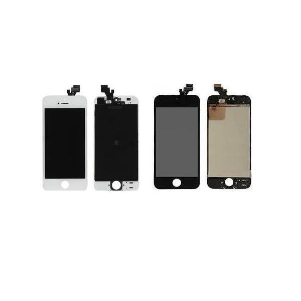 Vitre tactile ecran lcd sur chassie complet iphone 5 for Ecran photo noir iphone