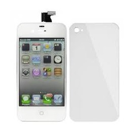 Forfait montage kit vitre + lcd + face arriere iPhone 4 4s BLANC ORIGINE